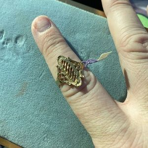 Antique Filigree ring sized marked 8